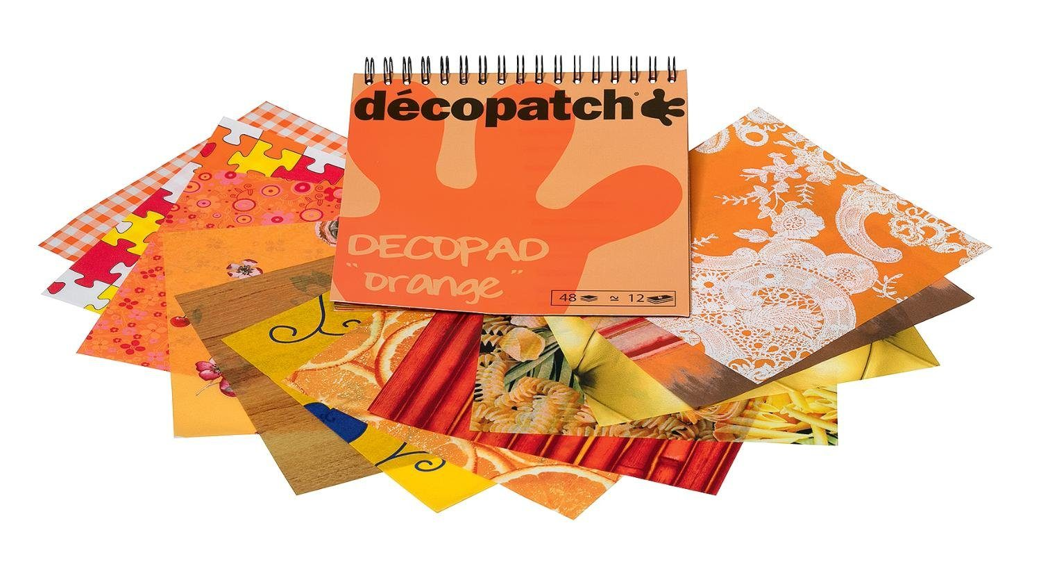 "décopatch Papierblock ""Decopad Orange"""