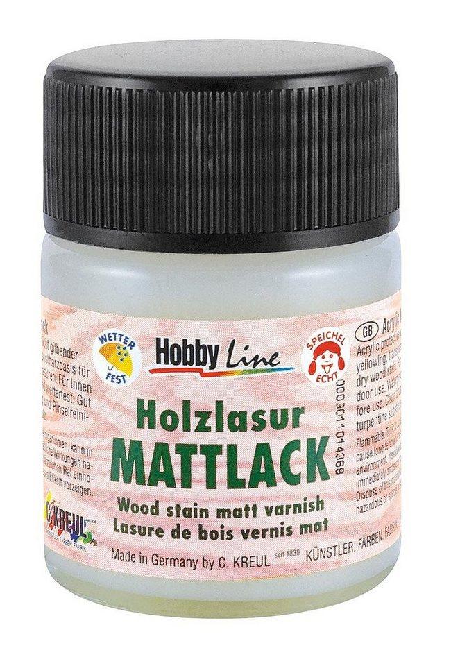Hobby Line Holzlasur-Lack, 50 ml, Matt