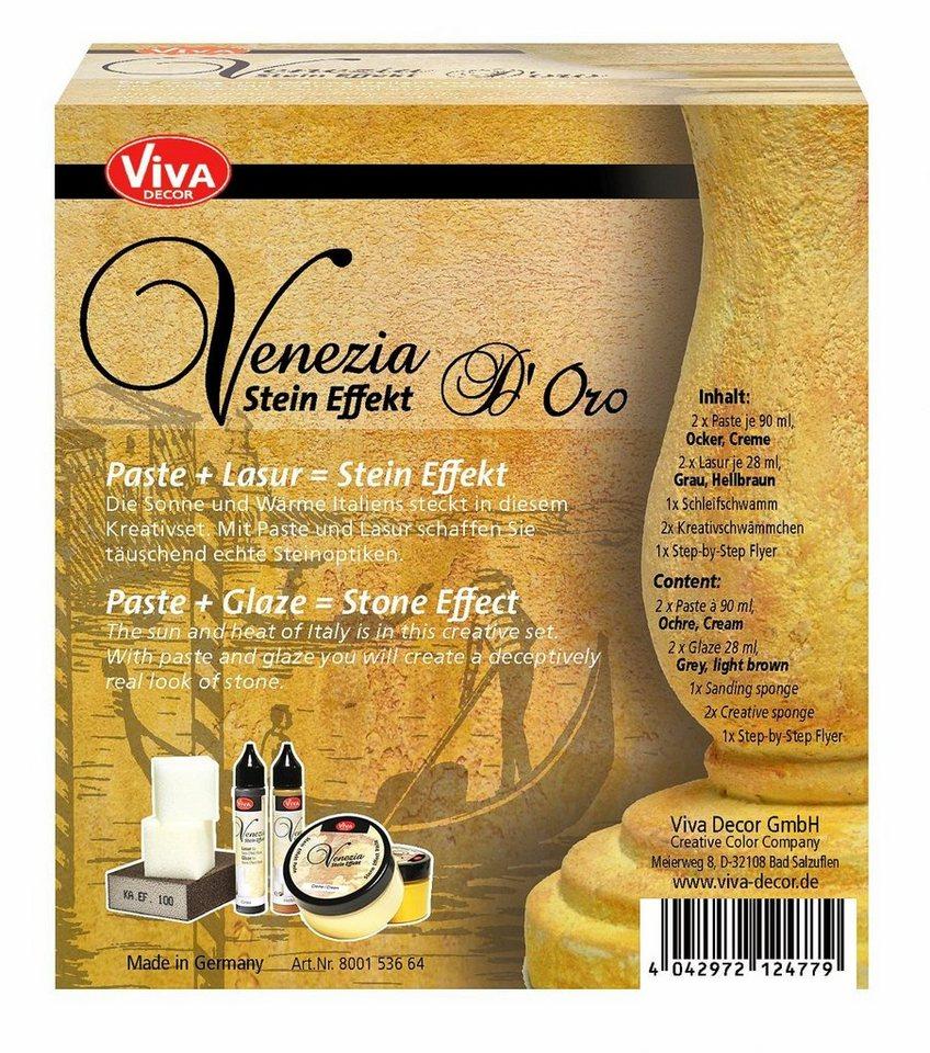 """Viva Decor Venezia Stein Effekt Set """"D´Oro"""""""