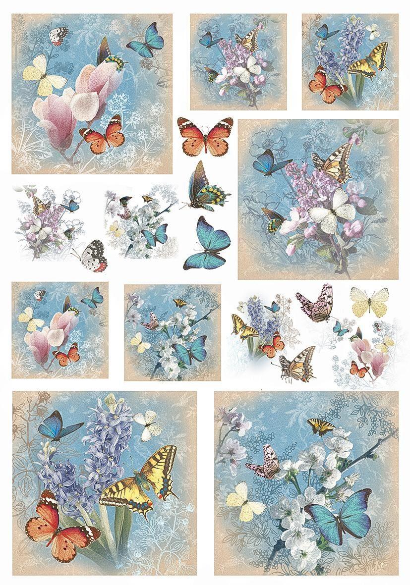 "Renkalik Motiv-Strohseide ""Papillon"""
