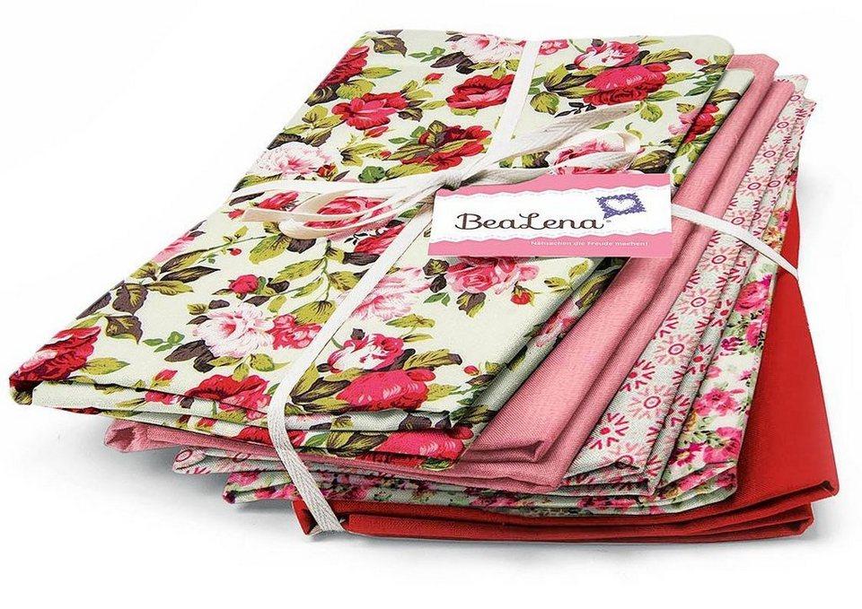 "BeaLena Stoffpaket ""Rose Garden"", 5er-Set"