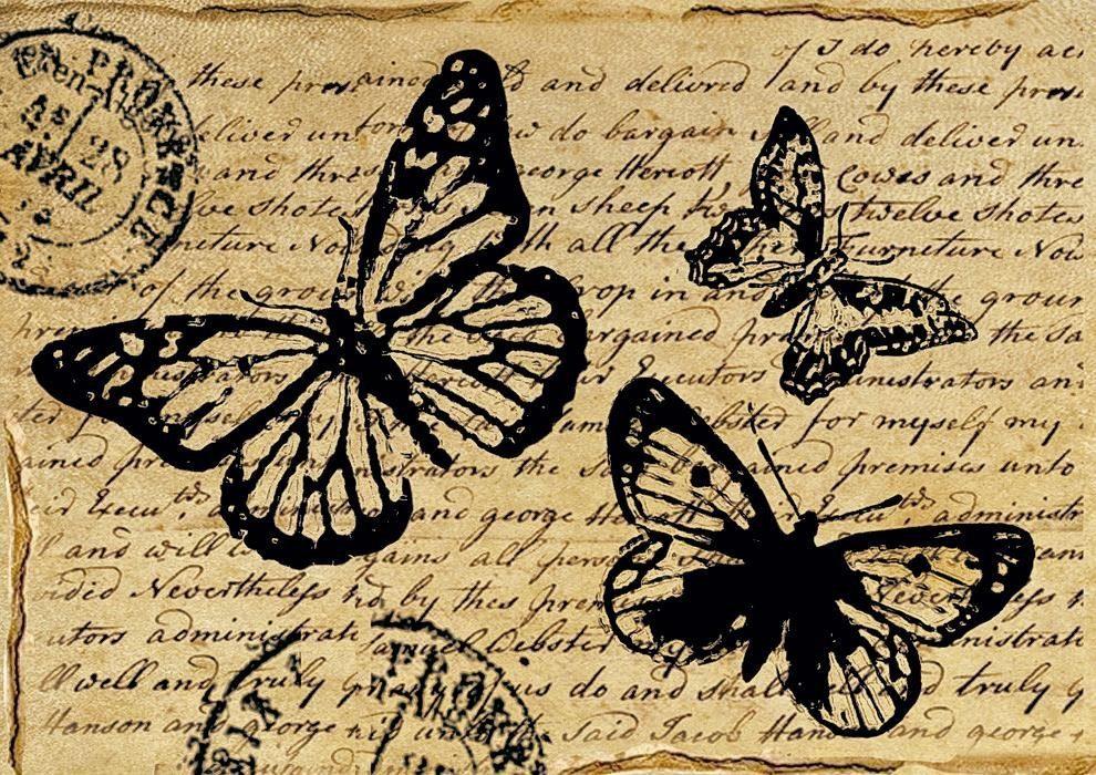 """Stamperia Motiv-Strohseide """"Vintage Butterfly"""""""