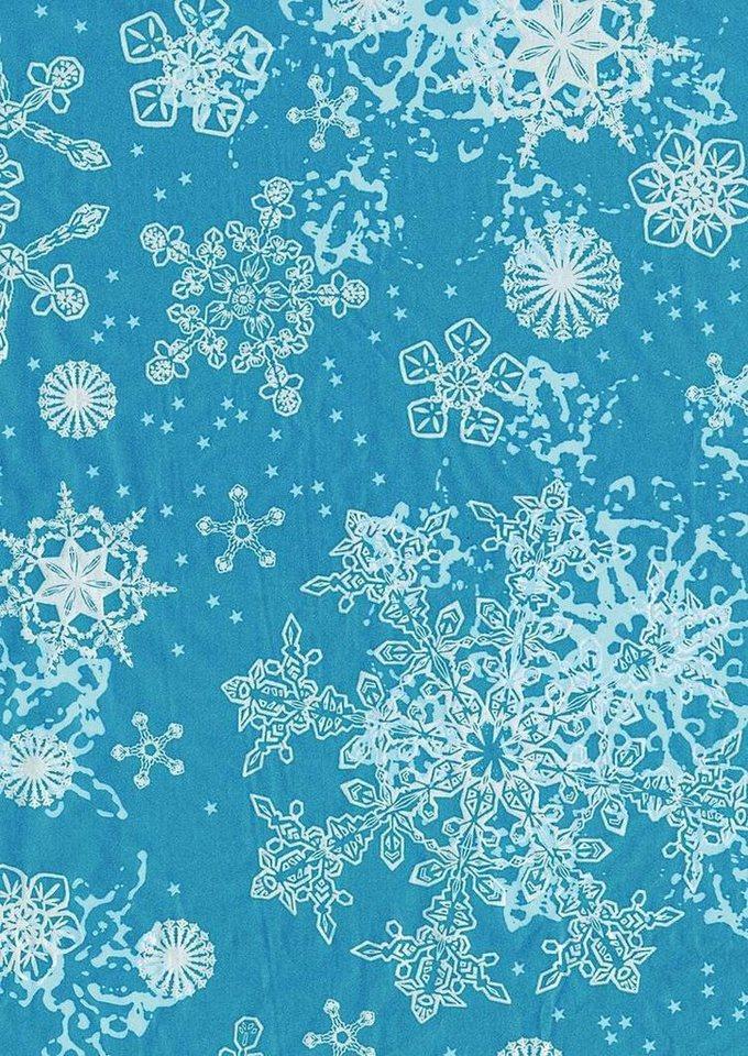 Décopatch Papier Schneeflocken Blau Kaufen Otto