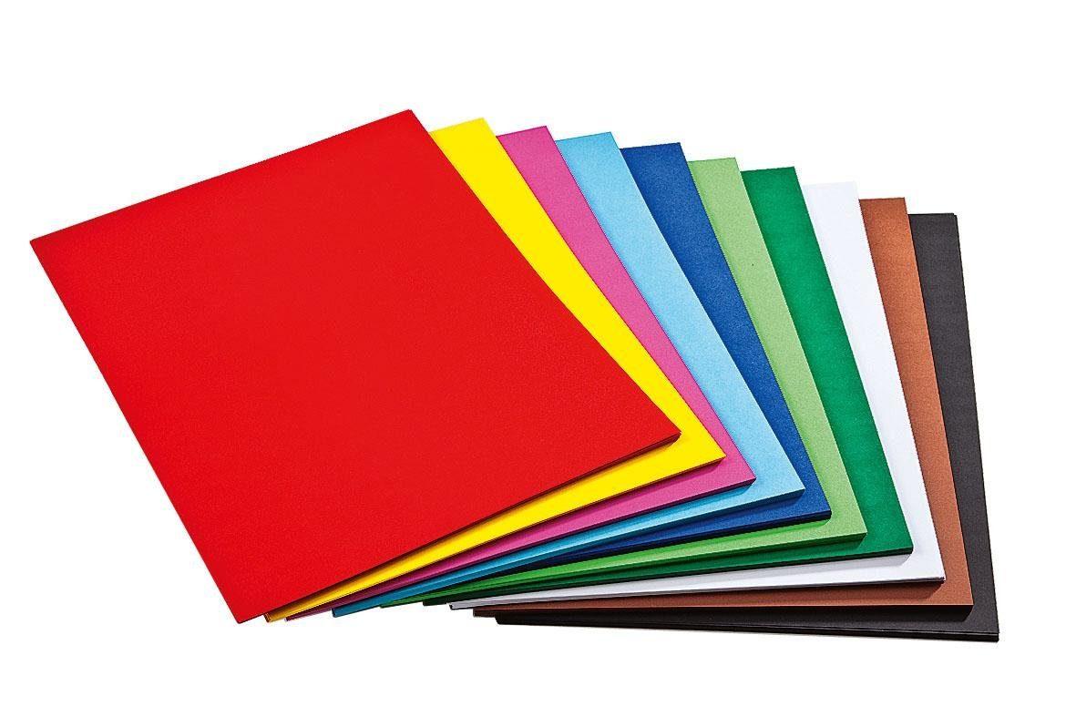 Folia 250 Blatt Tonkarton, farbig sort., DIN A3, Großhandelspackung