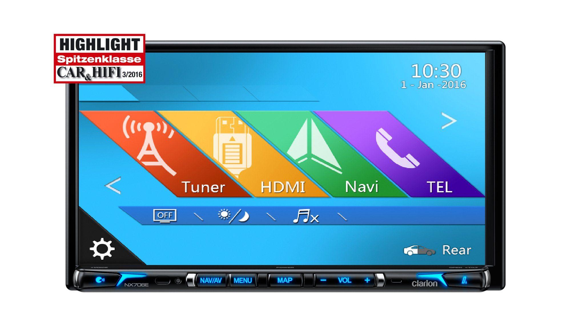Clarion 2-DIN Multimedia Steuergerät »NX706EDAB«