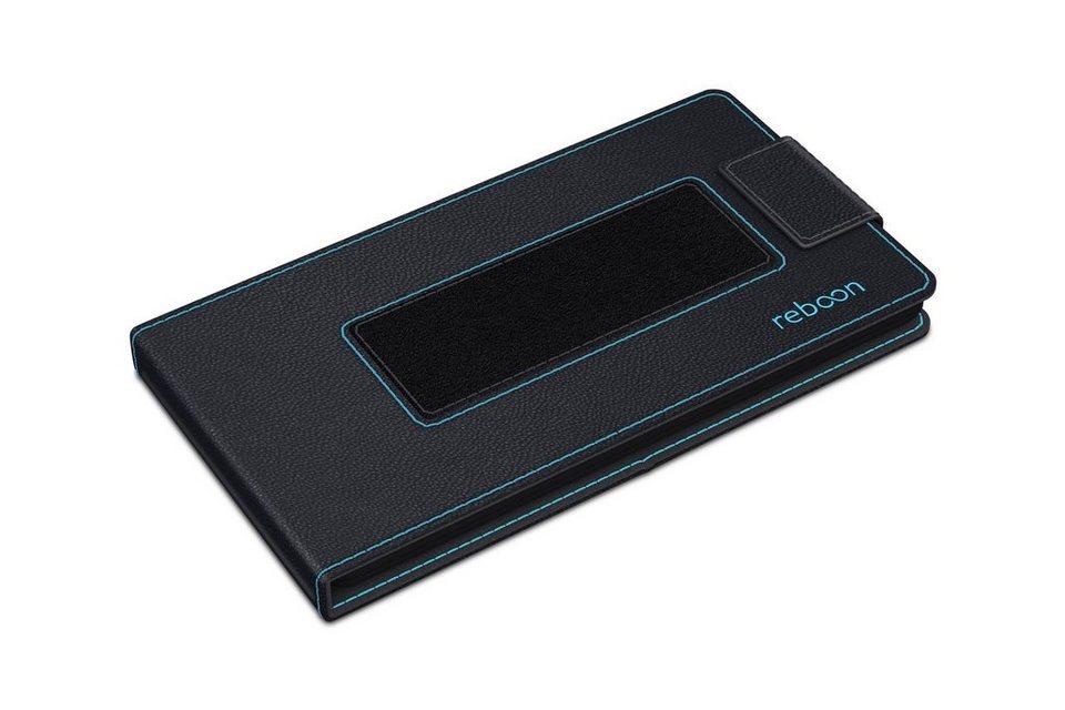 reboon Cover / Schutzhülle aus Leder für Handys »boonflip XS2« in schwarz Leder