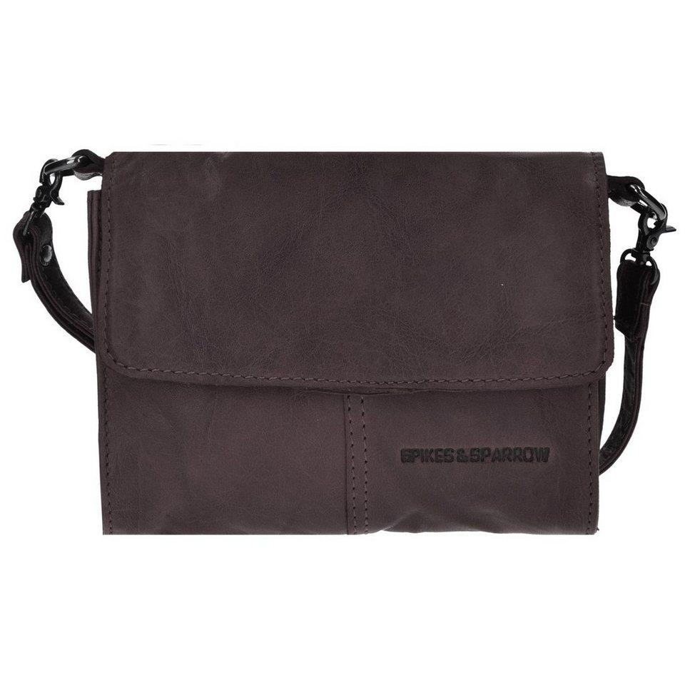 Spikes & Sparrow Bronco Clutch Tasche Leder 18 cm in dark brown