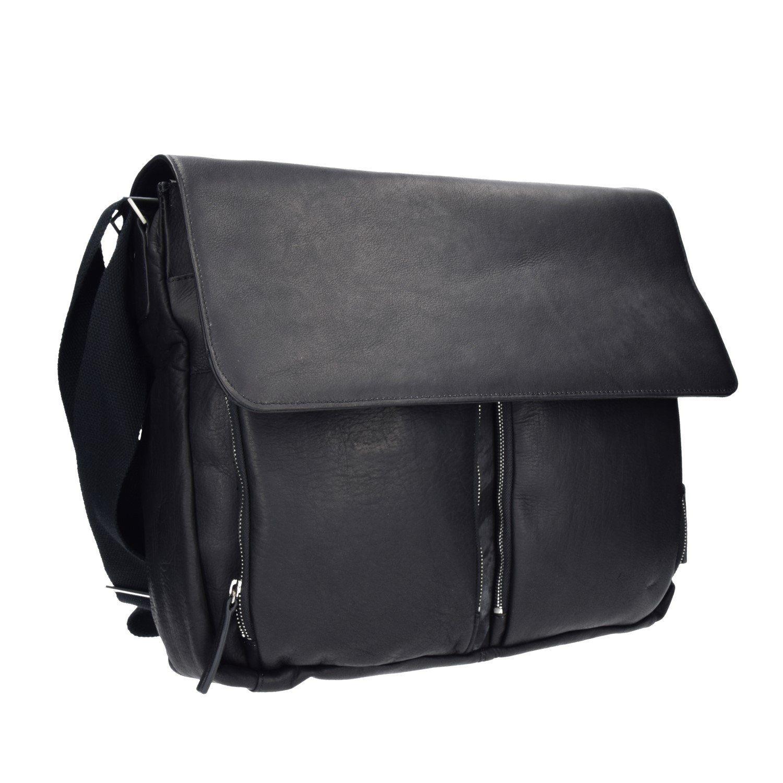 Dermata Dermata Umhängetasche Messenger Bag Leder 42 cm