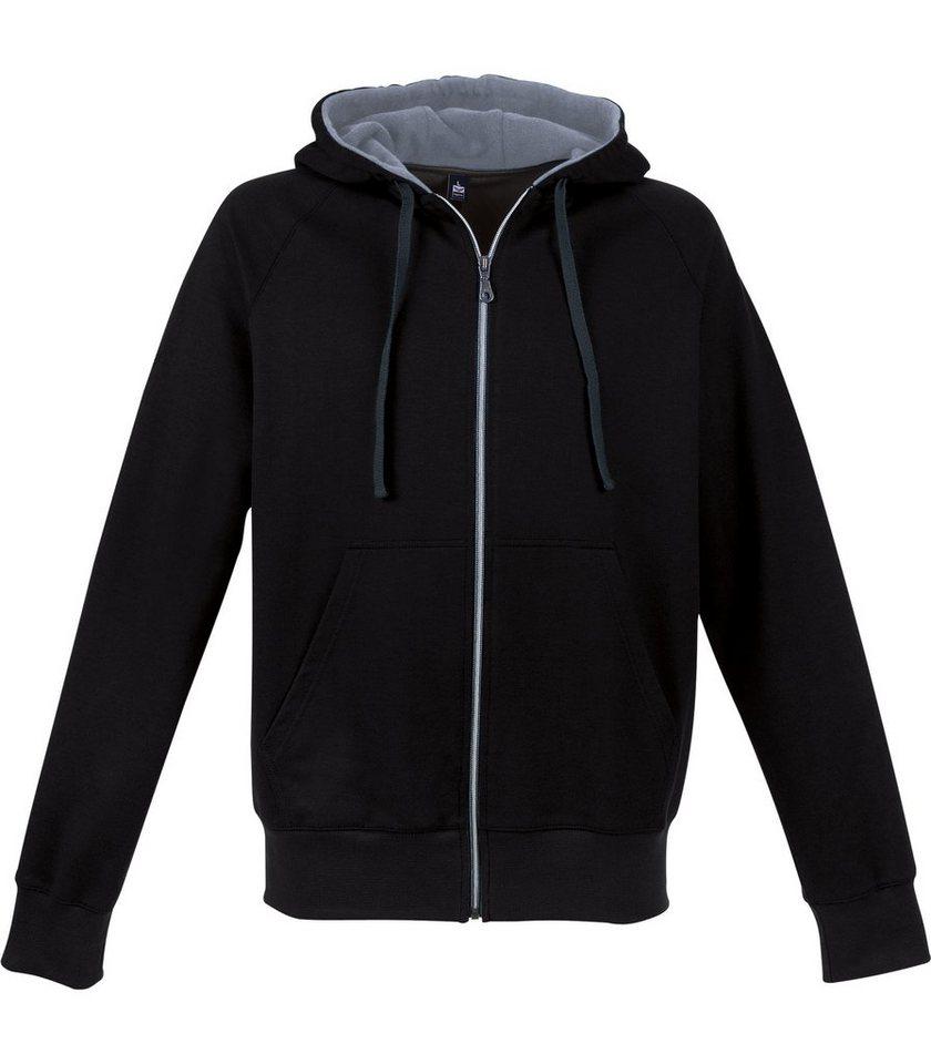 TRIGEMA Kapuzen-Jacke Sweat-Qualität in schwarz