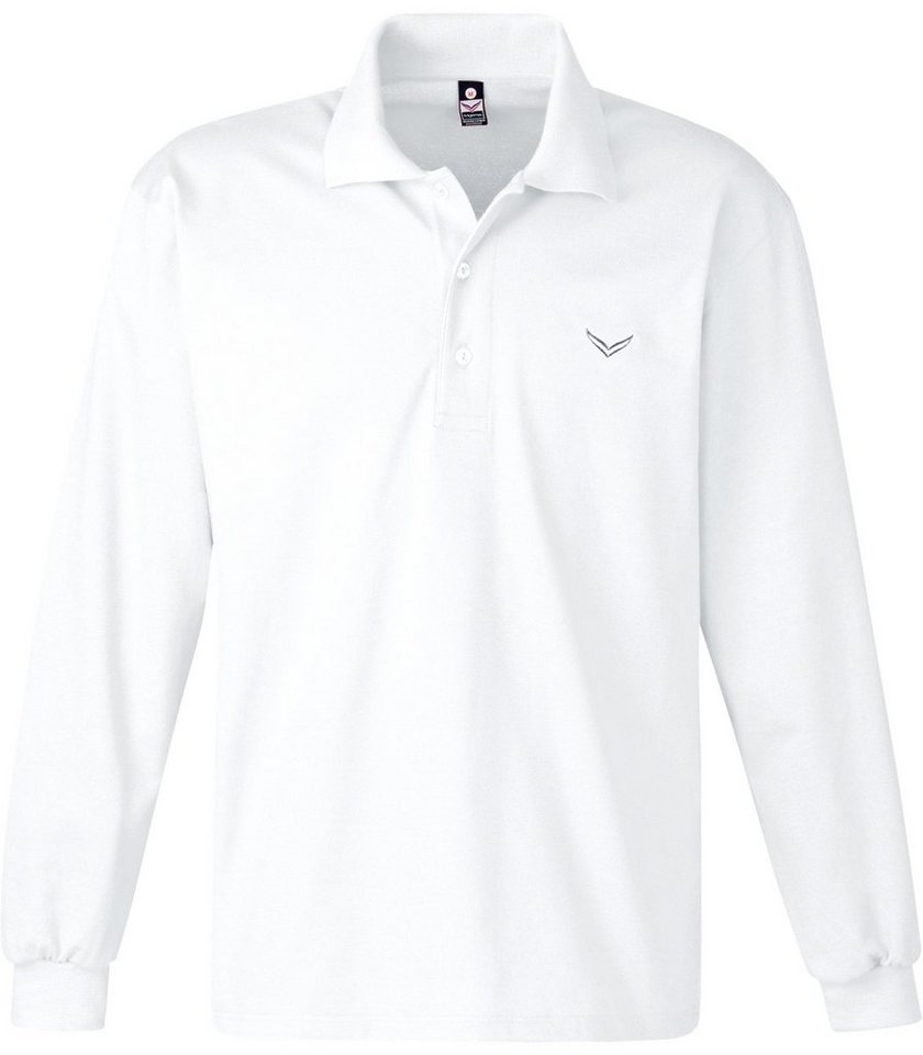 TRIGEMA Langarm Polo-Shirt in weiss