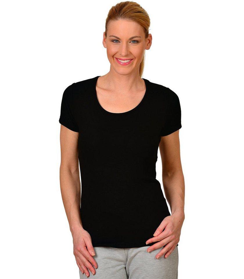 TRIGEMA T-Shirt aus Viskose in schwarz