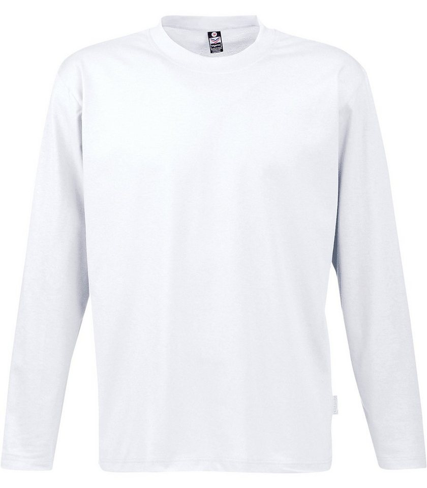 TRIGEMA Langarm Shirt 100% Baumwolle in weiss