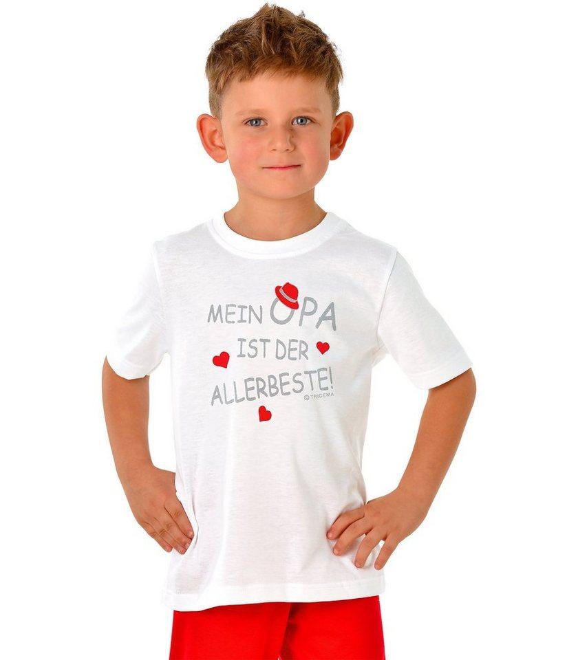 TRIGEMA Shirt Opa 100% Baumwolle in weiss