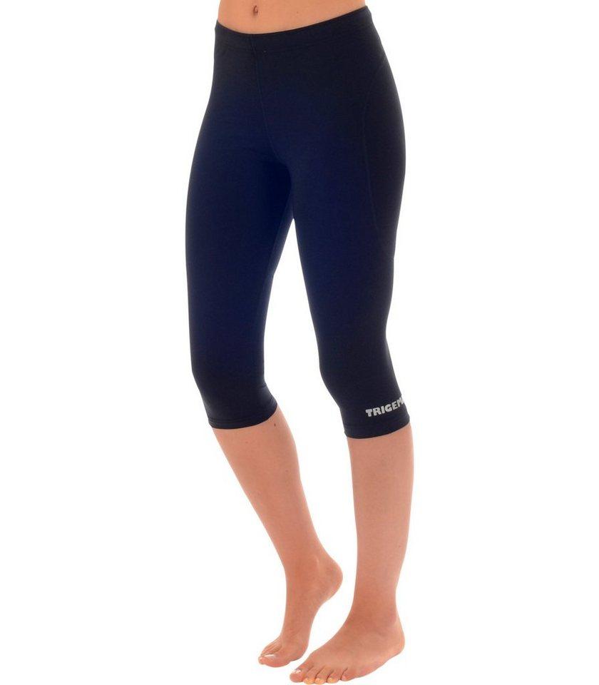 TRIGEMA 3/4 Sport-Hose in schwarz