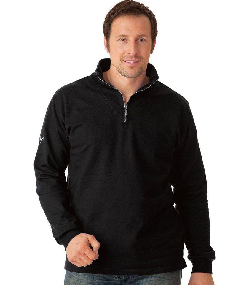 TRIGEMA Sweat-Shirt Reißverschluss in schwarz