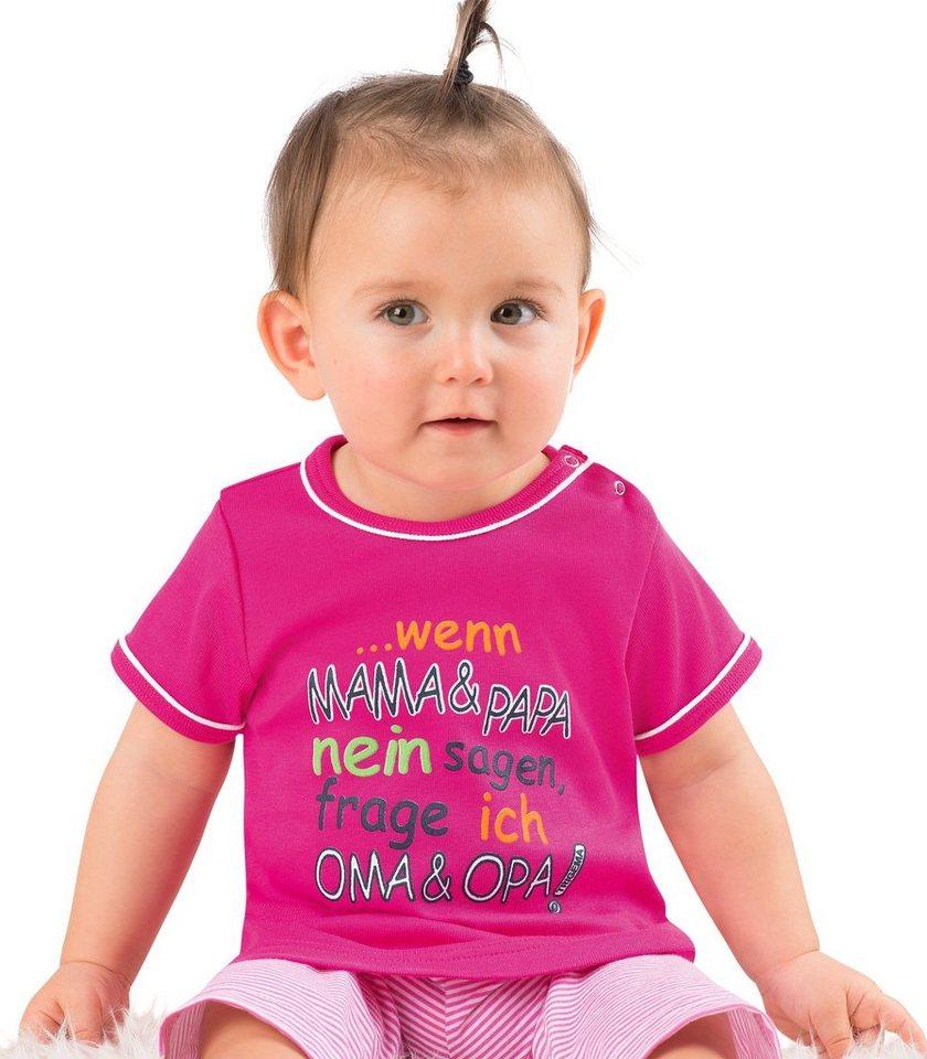 TRIGEMA Shirt Feinripp Oma & Opa in hibiskus