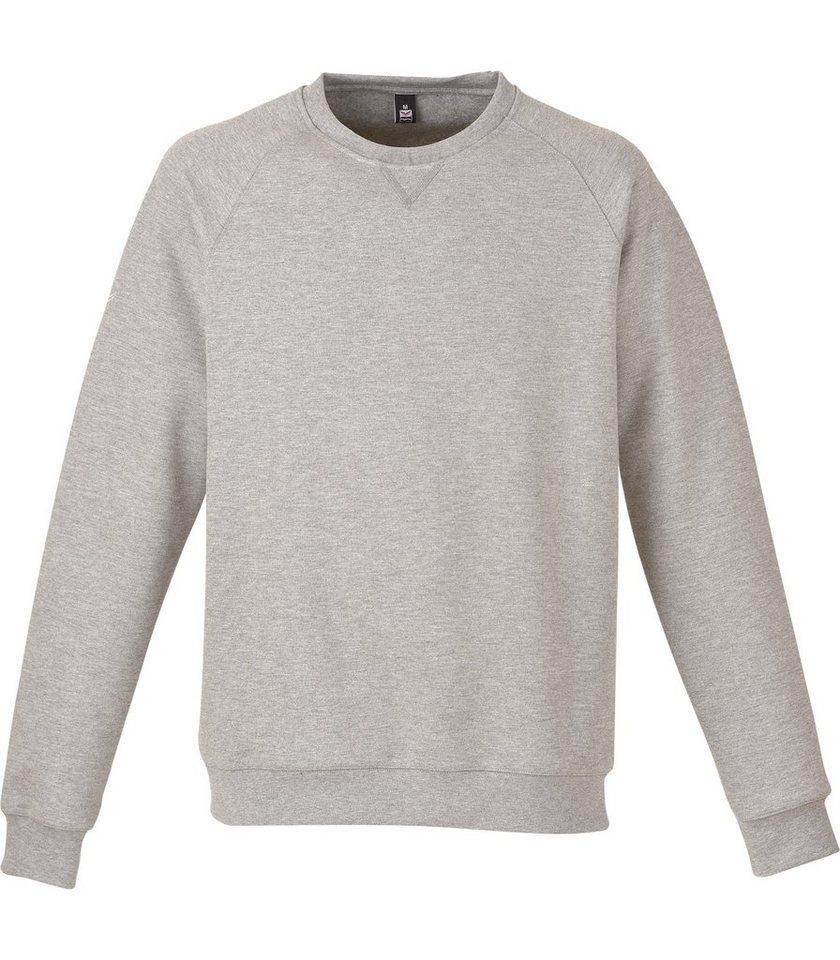 TRIGEMA Sweat-Shirt in grau-melange