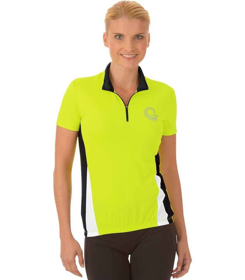 TRIGEMA Rad-Trikot COOLMAX in lemon