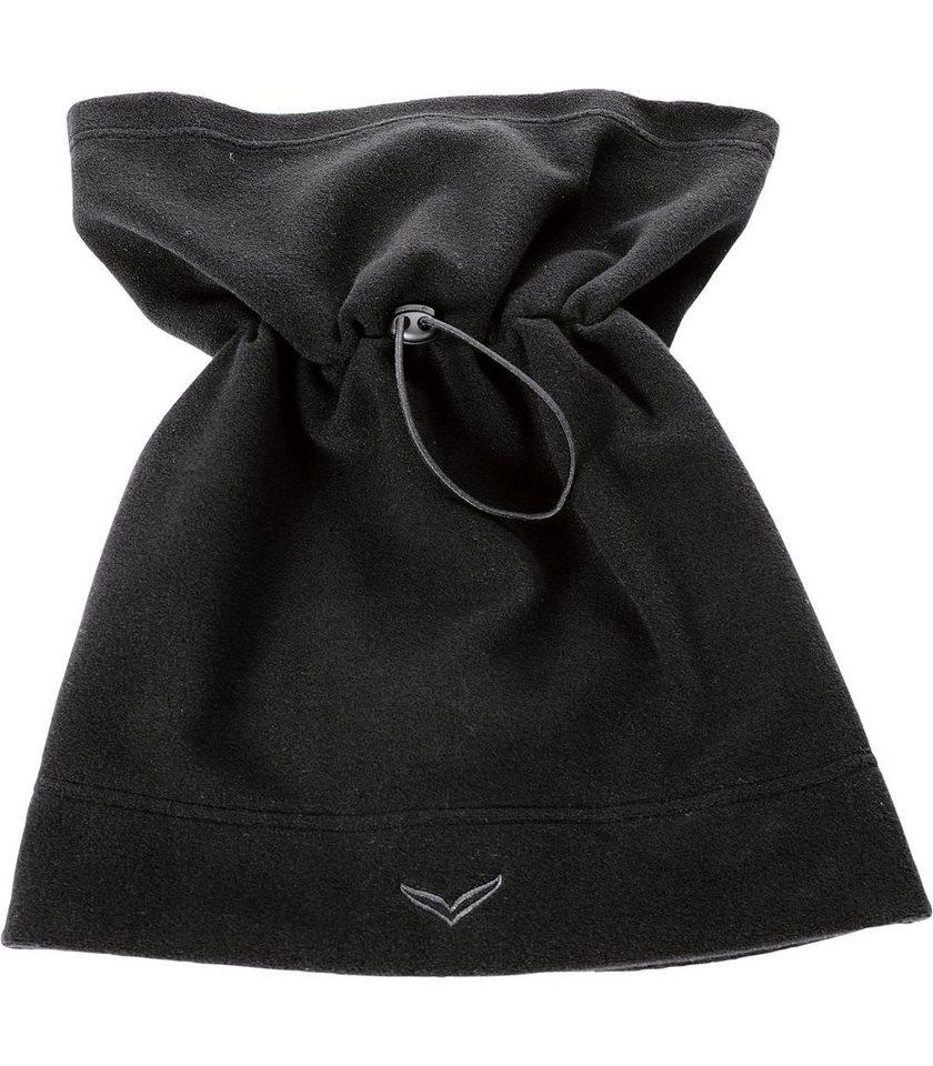 TRIGEMA Fleece Mützen-Schlauchschal in schwarz