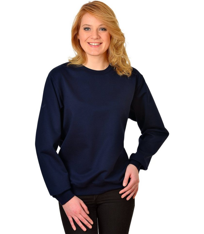 TRIGEMA Sweat-Shirt Biobaumwolle in navy-C2C