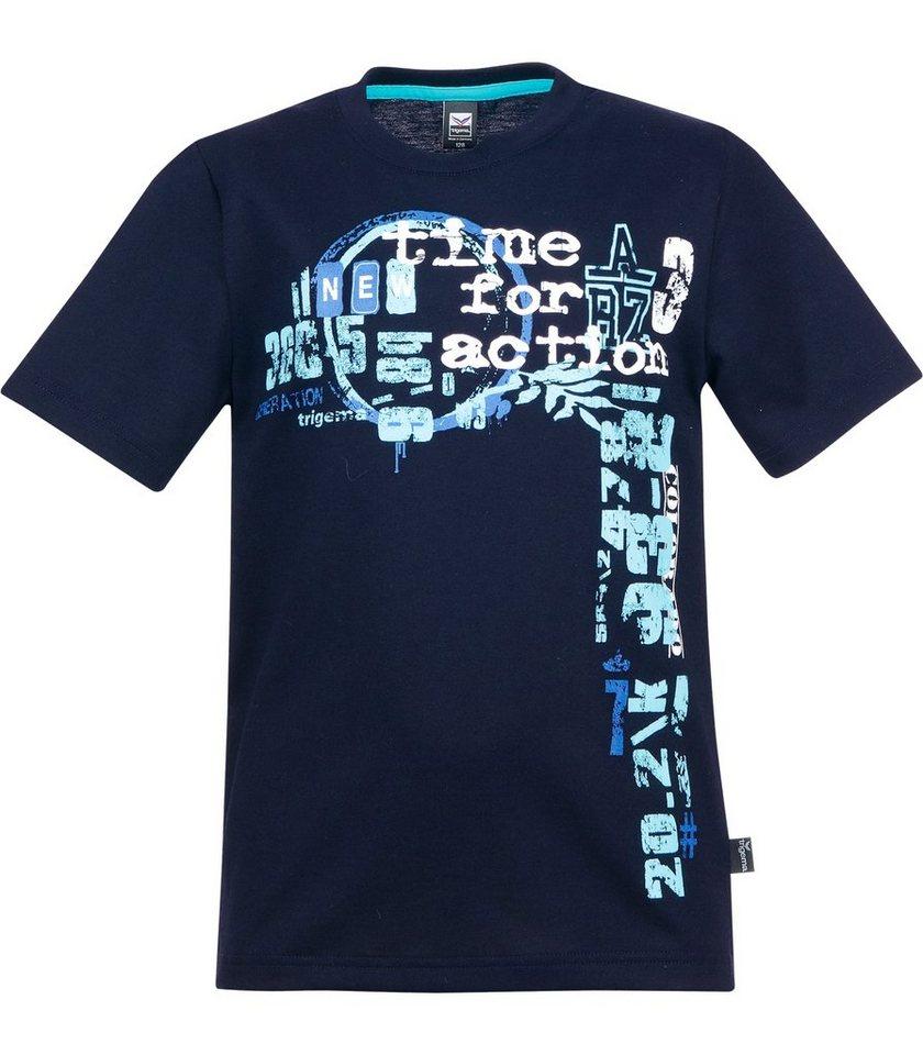 TRIGEMA T-Shirt 100% Baumwolle in navy