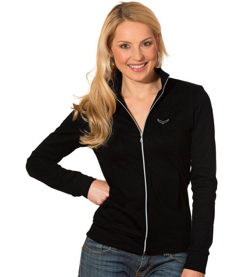 TRIGEMA Jacke mit Swarovski® Kristallen in schwarz