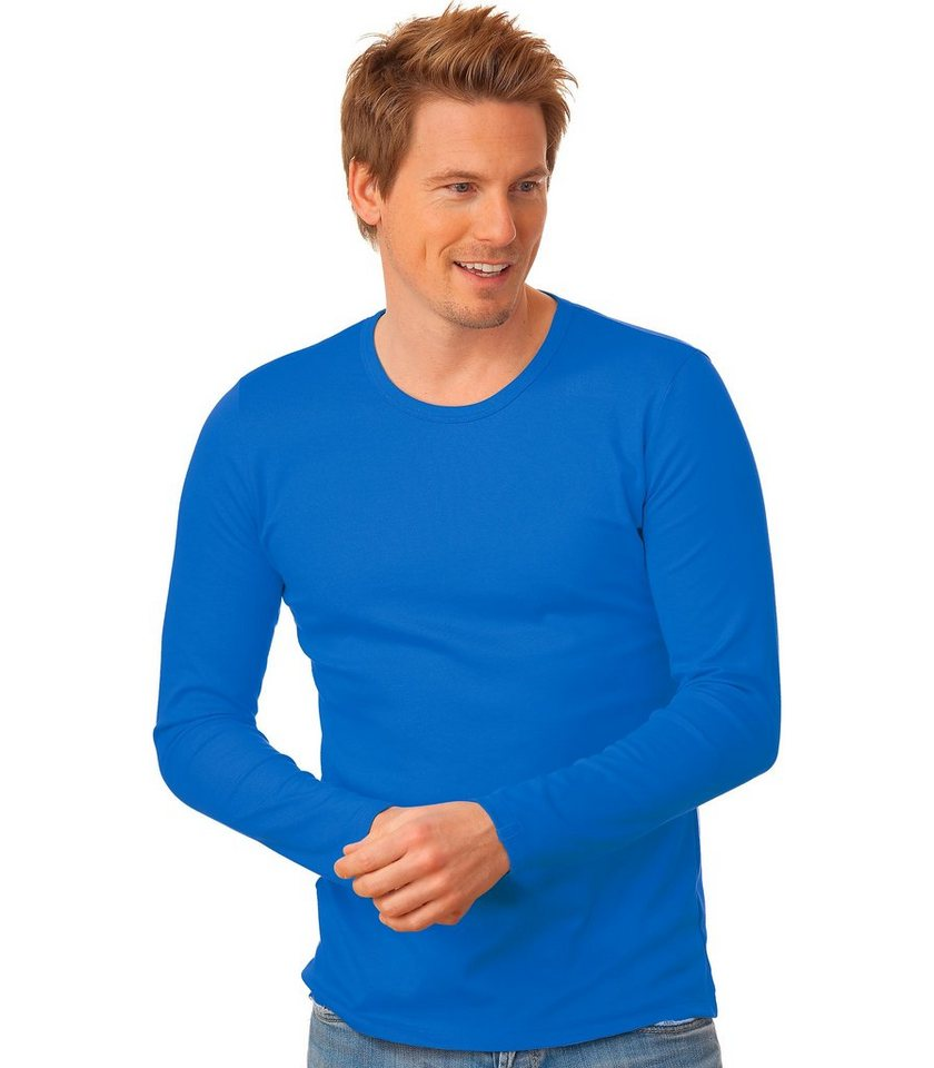 TRIGEMA Langarm-Shirt in electric-blue