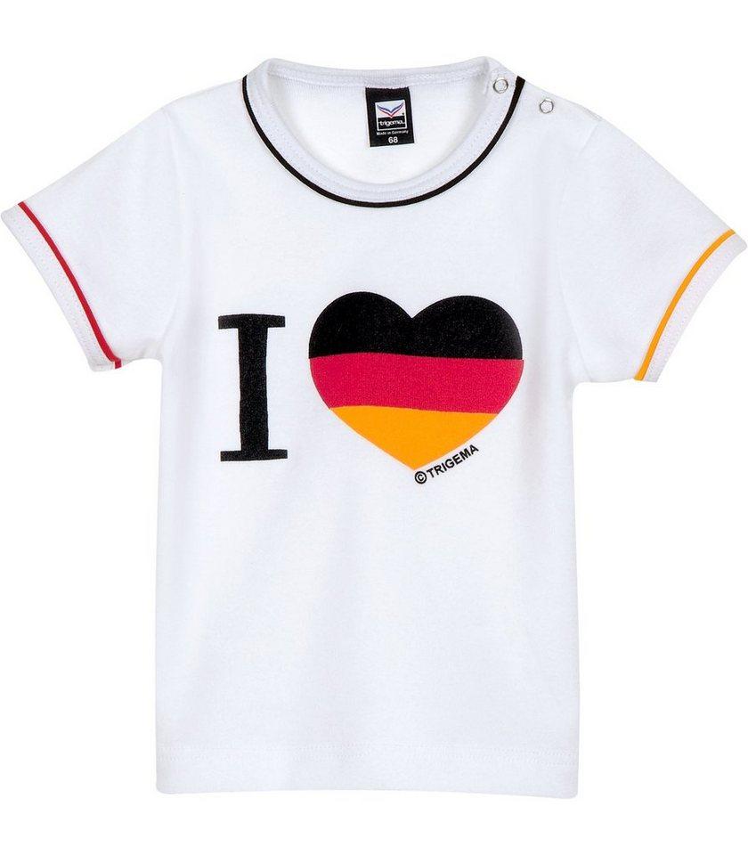 TRIGEMA Baby Deutschland Shirt in weiss