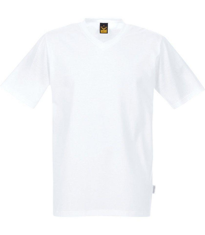 TRIGEMA V-Shirt DELUXE Baumwolle in weiss