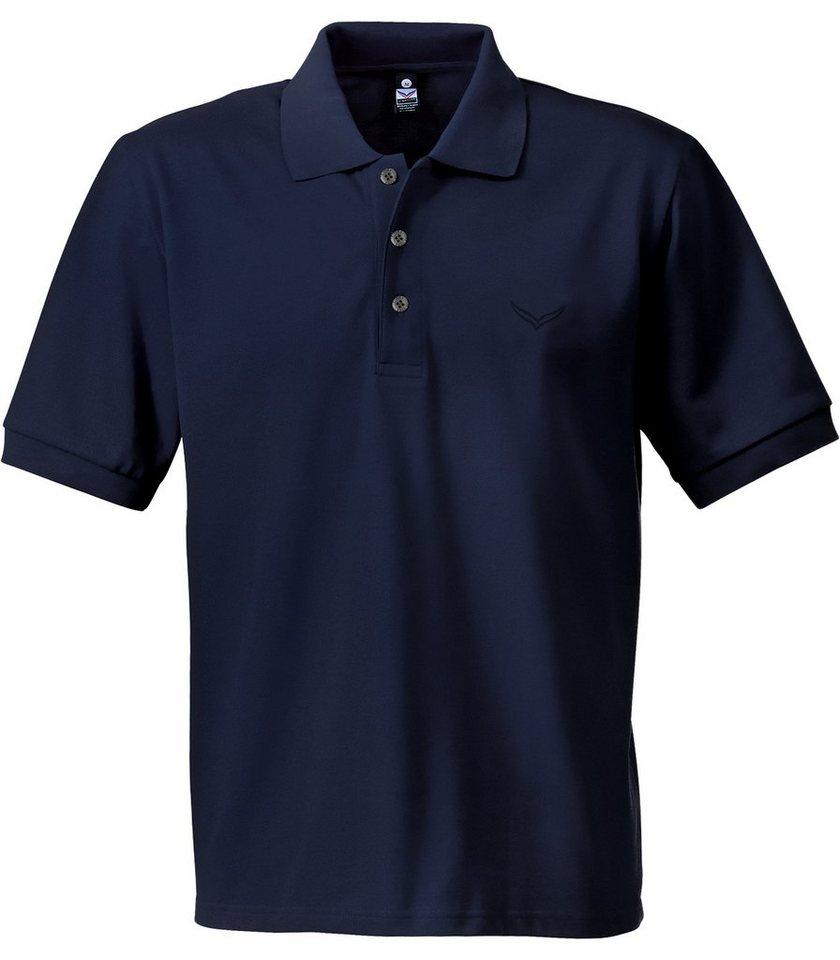 TRIGEMA Polo-Shirt Piqué-Qualität in navy