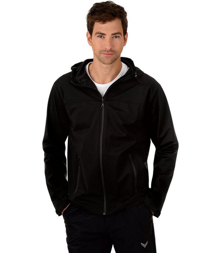 TRIGEMA Leichte Regen-Jacke in schwarz