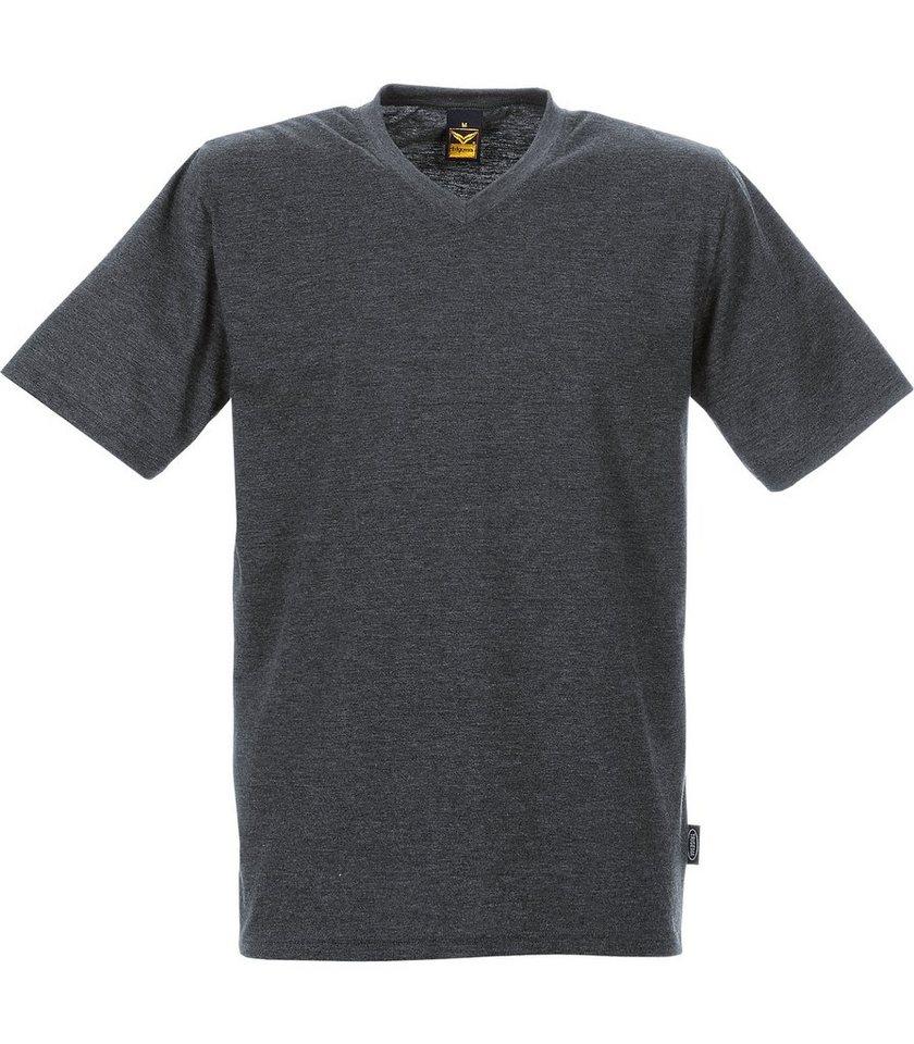 TRIGEMA V-Shirt DELUXE Baumwolle | Bekleidung > Shirts > V-Shirts | Grau | Baumwolle - Jersey - Polyester | Trigema