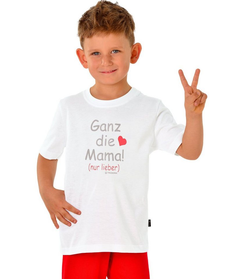 TRIGEMA Shirt Mama 100% Baumwolle in weiss