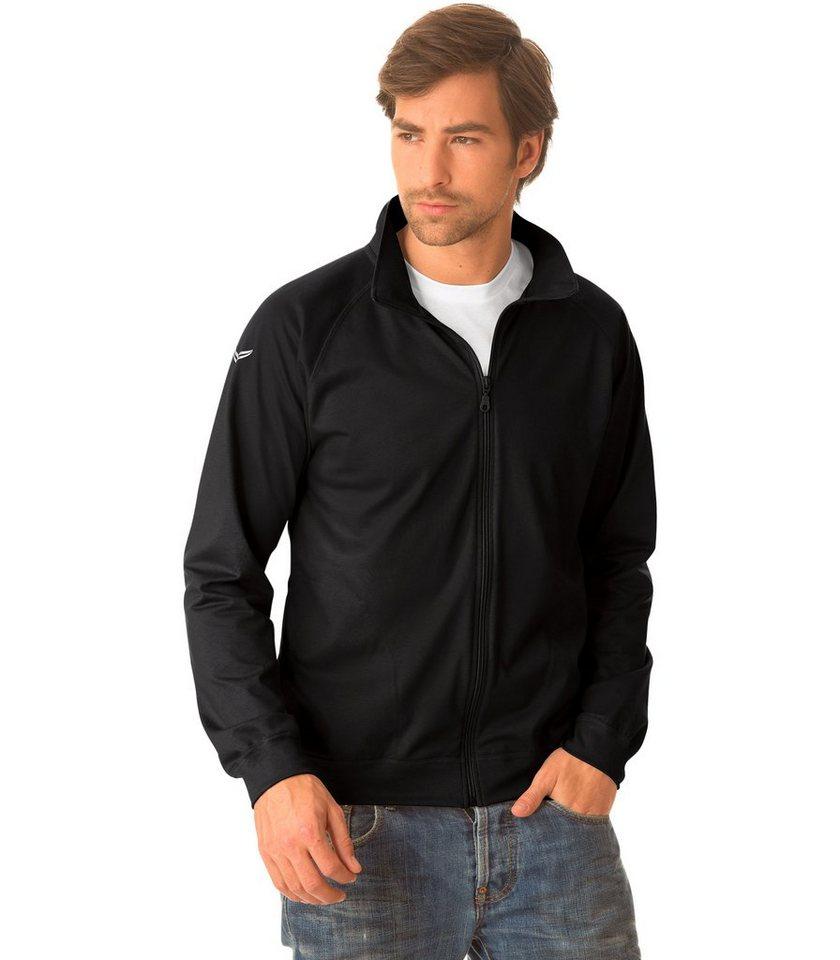 TRIGEMA Raglan-Jacke in schwarz