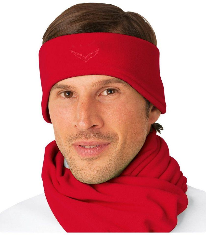 TRIGEMA Fleece Stirnband in kirsch