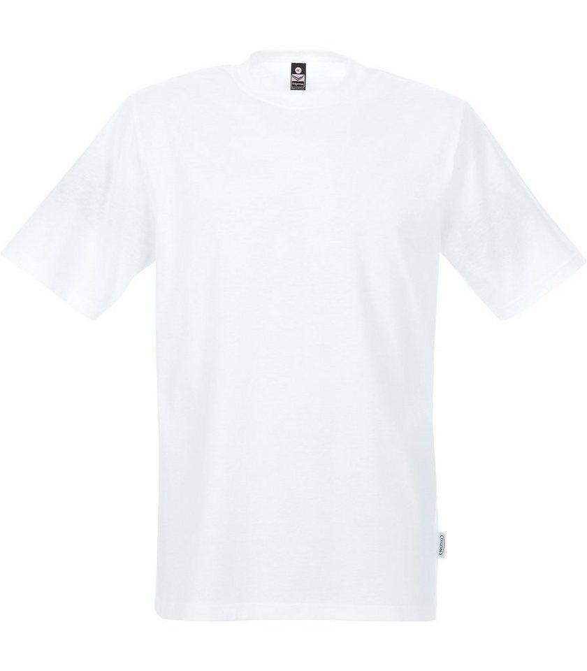 TRIGEMA T-Shirt für Industriewäsche in weiss