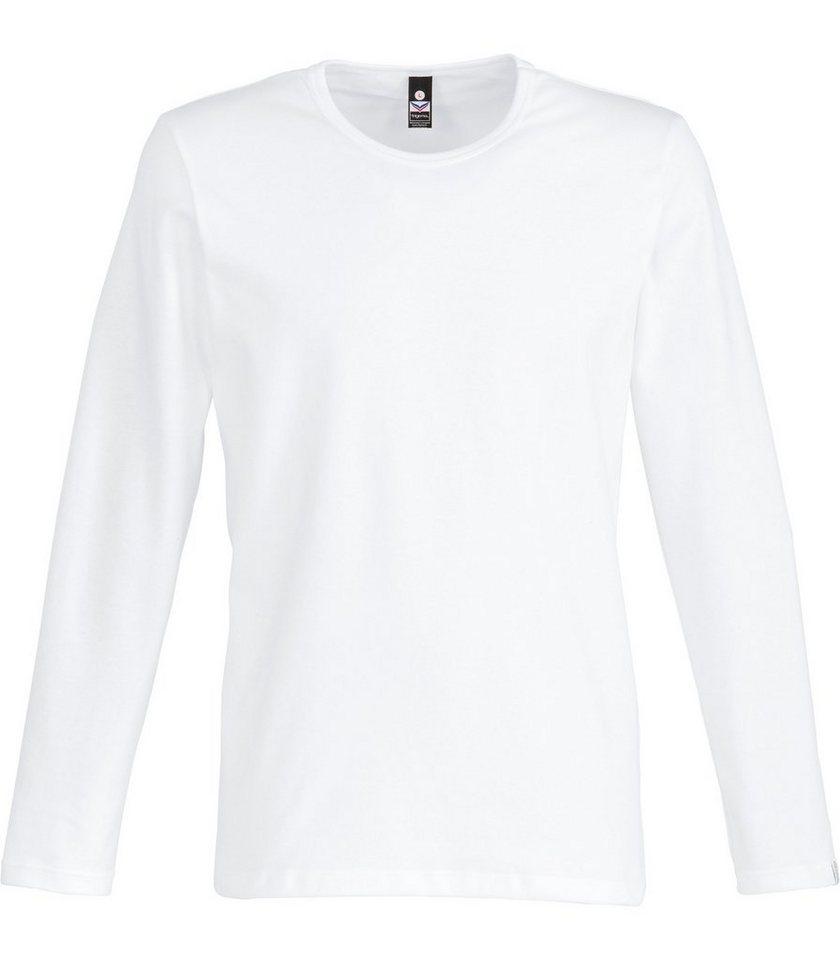 TRIGEMA Langarm-Shirt in weiss