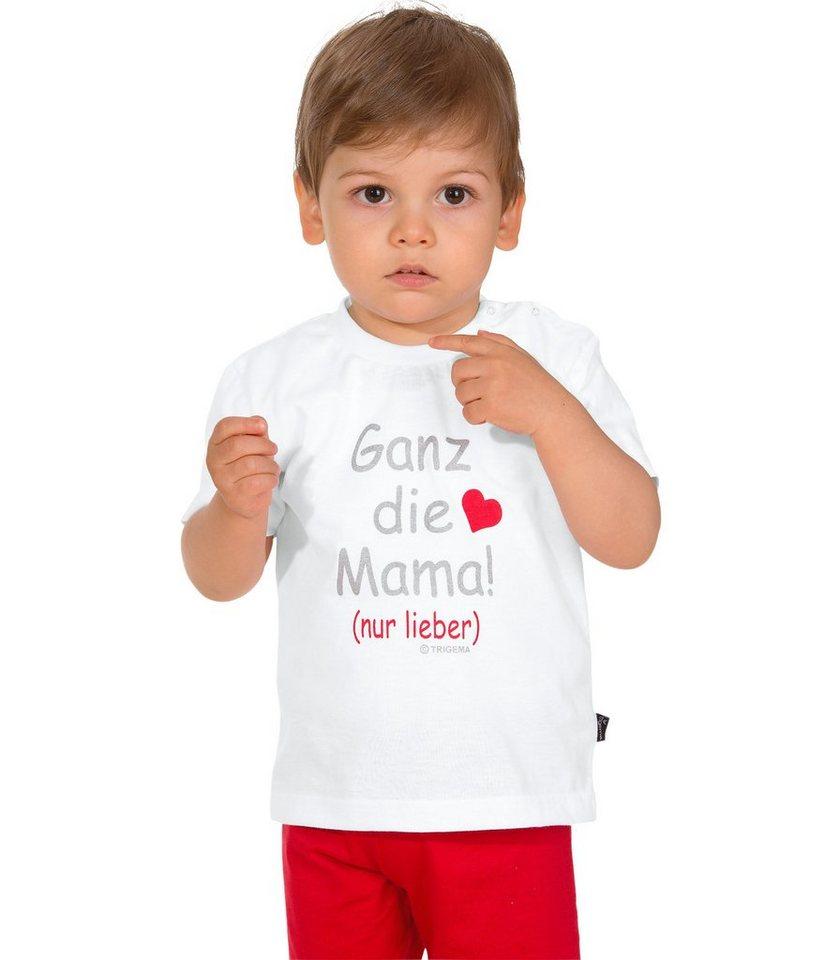 TRIGEMA T-Shirt Mamas Liebling in weiss