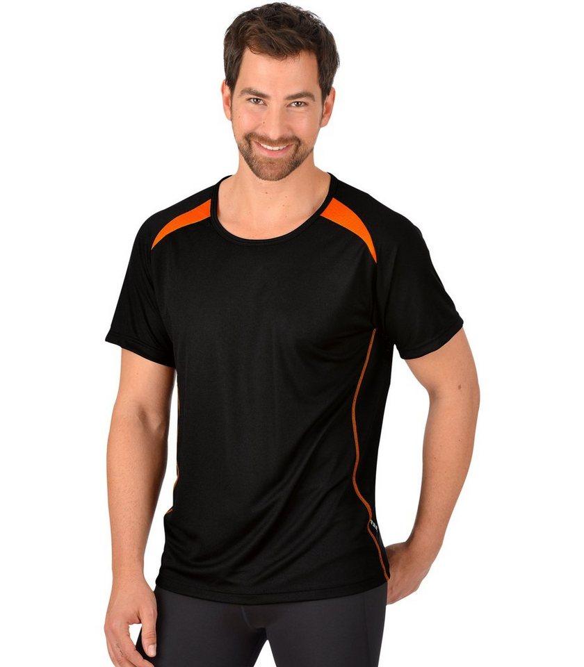 TRIGEMA Sport-Shirt COOLMAX in schwarz