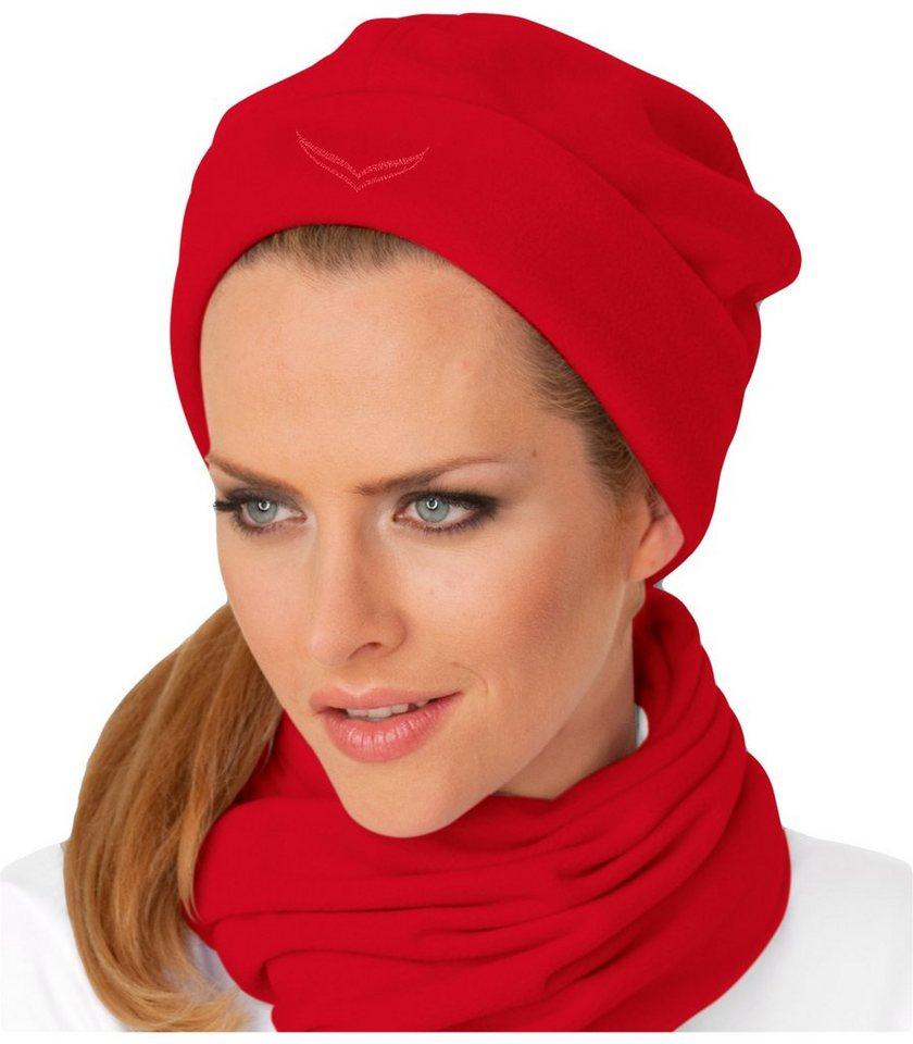 TRIGEMA Fleece Mütze | Accessoires > Mützen > Sonstige Mützen | Rot | Fleece - Polyester | Trigema
