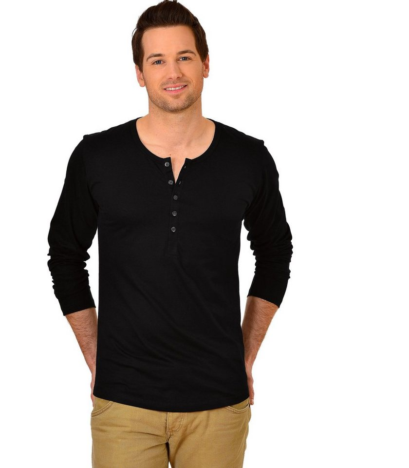TRIGEMA Langarm Shirt Biobaumwolle in schwarz-C2C