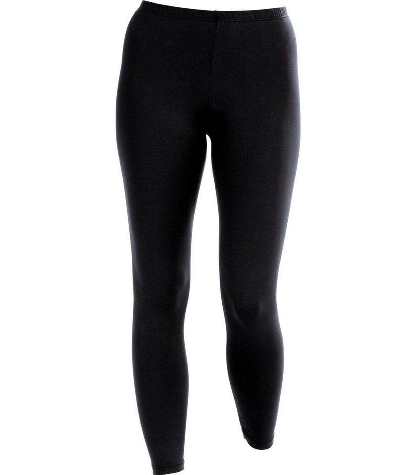 TRIGEMA Leggings Polyester/Elastan in schwarz