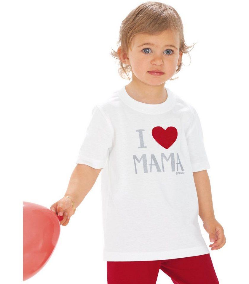 TRIGEMA T-Shirt Lieblings-Mama in weiss