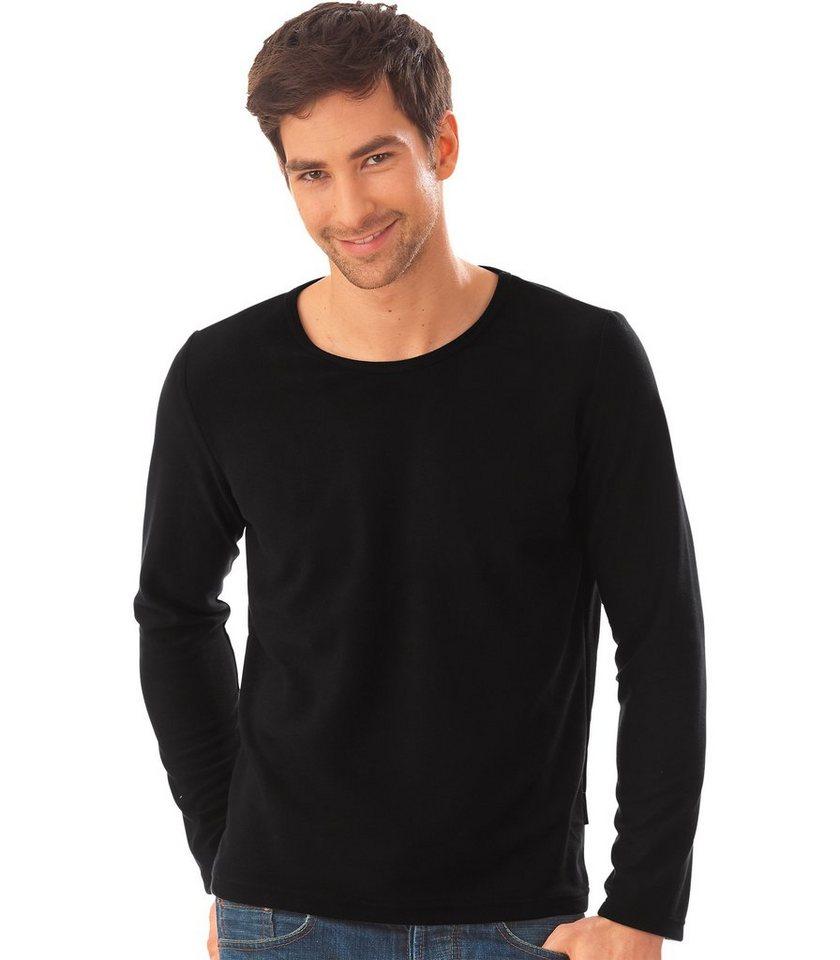 TRIGEMA Fleece-Shirt in schwarz