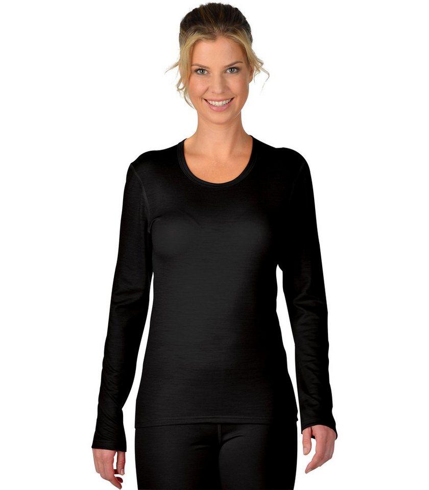 TRIGEMA Sportshirt aus Merinowolle | Sportbekleidung > Sportshirts | Schwarz | Wolle - Polyamid | Trigema