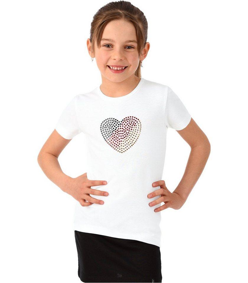 TRIGEMA T-Shirt Deutschland Herz in weiss