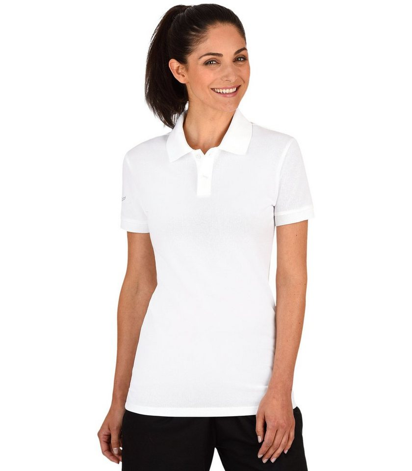 TRIGEMA Polo-Shirt elast. Piqué in weiss