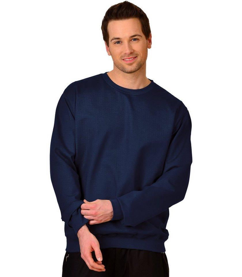 TRIGEMA Sweat-Shirt Biobaumwolle in navy-C2C