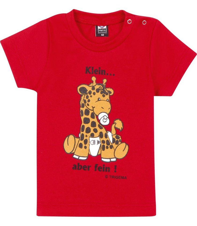 TRIGEMA T-Shirt Baby-Giraffe in kirsch