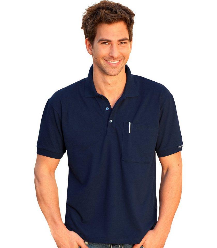 TRIGEMA Polo-Shirt mit Brusttasche in navy